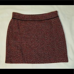 3/$15 The Limited Red Tweed Mini Skirt